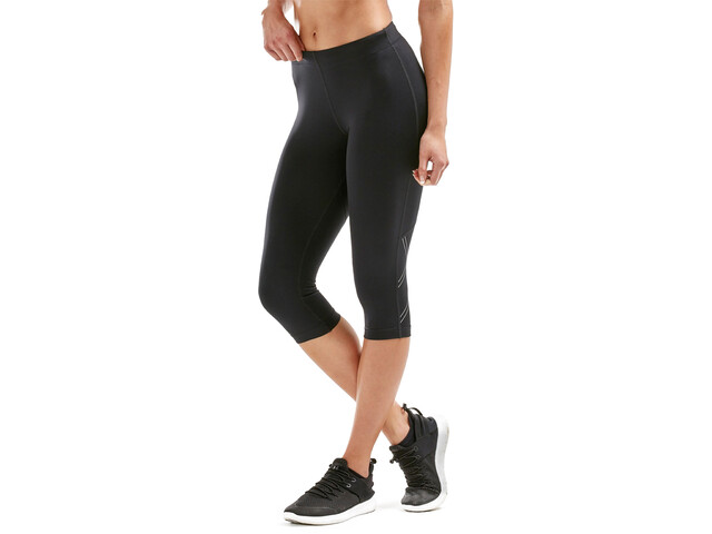 2XU Aspire Compression 3/4 Leggings Dames, black/silver